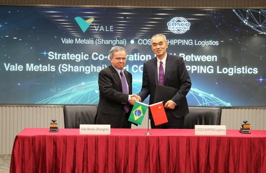 Vale e Cosco assinam acordo para otimizar logística